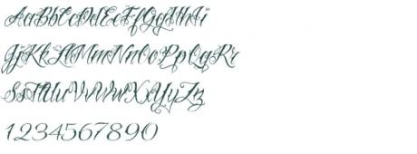 Tattoo font 44