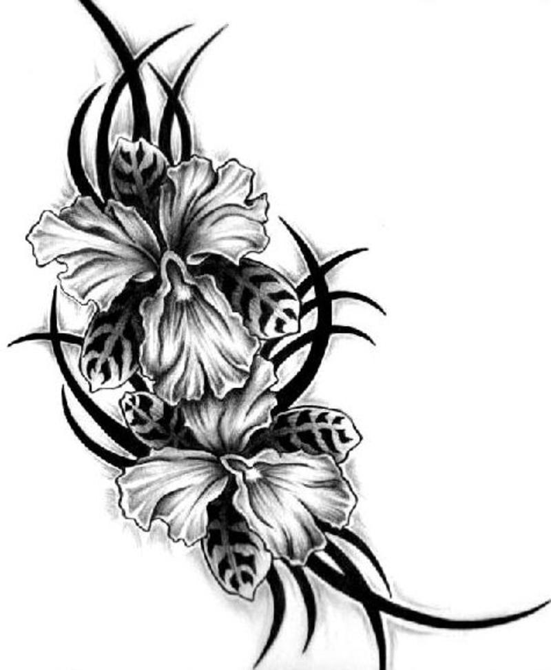 Black Flower Tattoo Designs